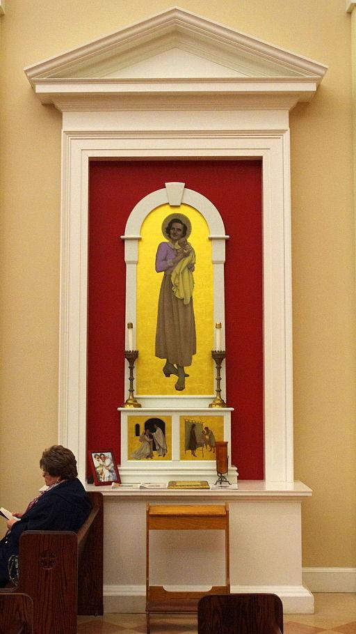 All_Saints_Catholic_Church_(Walton,_Kentucky)_-_nave,_altar_to_St._Gianna_Beretta_Molla