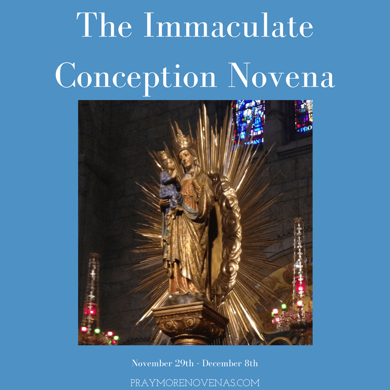 Final Prayer - The Immaculate Conception Novena 2018