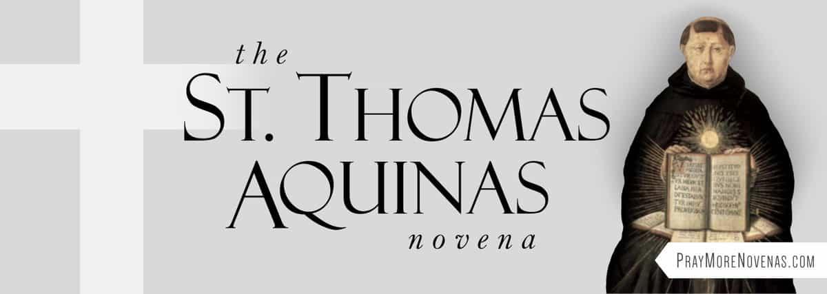 Join in praying the St. Thomas Aquinas Novena