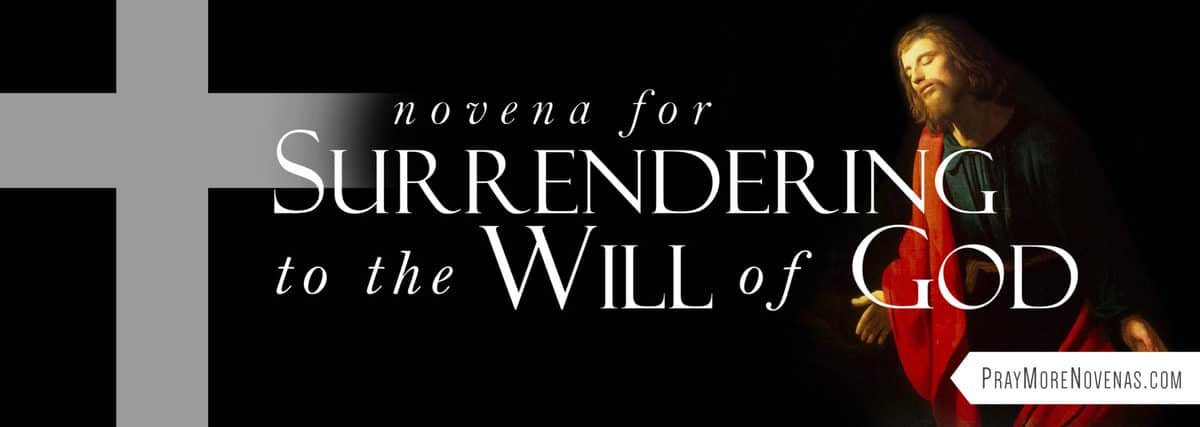 Join in praying the Novena for Surrendering to the Will of God